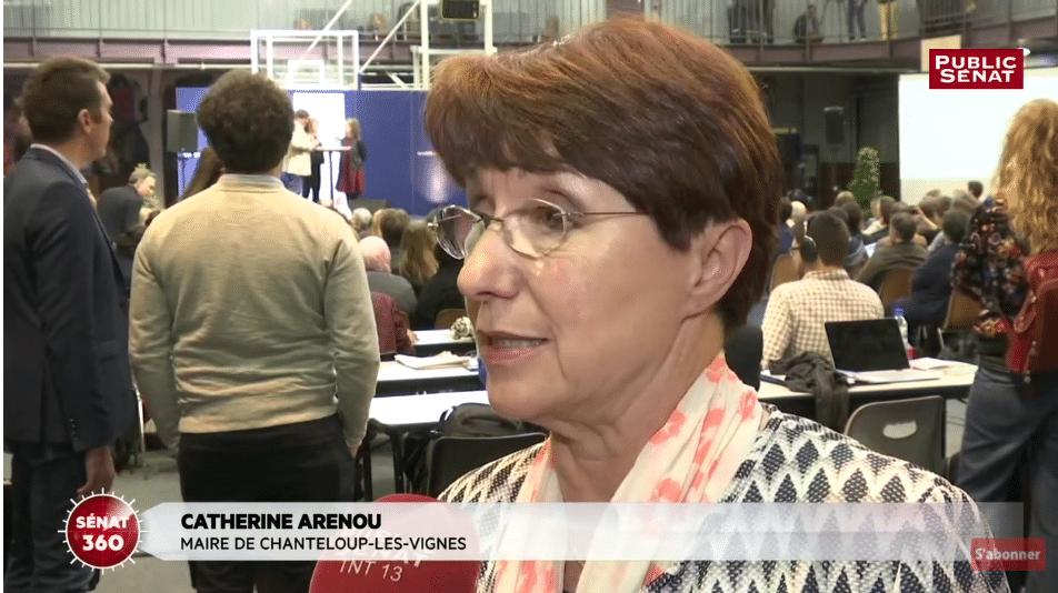 Rapport Borloo - Catherine Arenou, maire de Chanteloup-les-Vignes, s'exprime au micro de Public Sénat