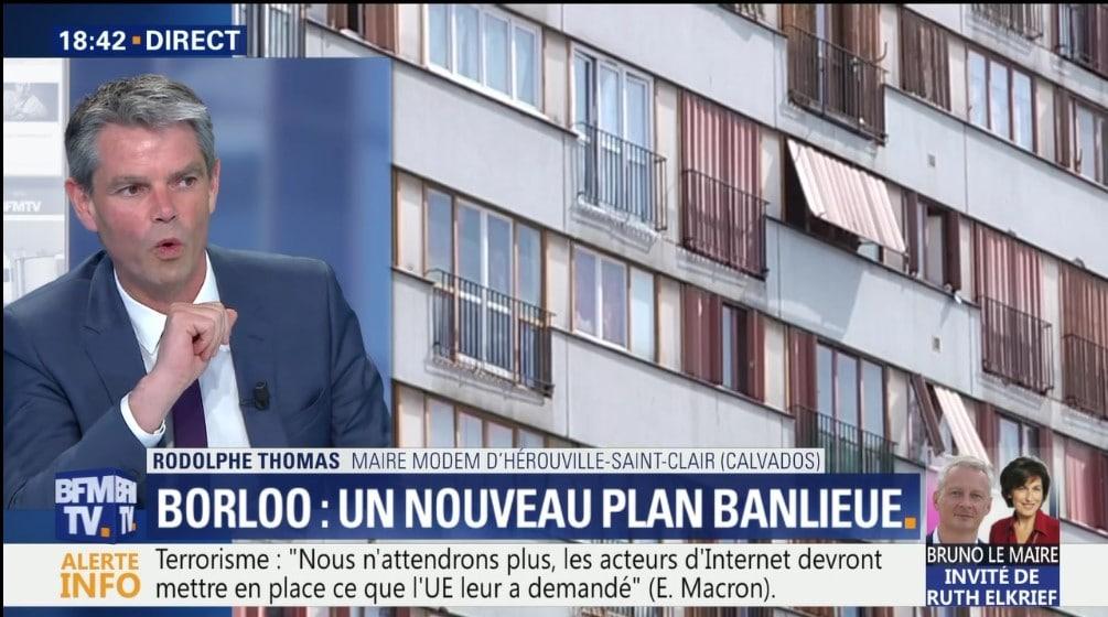 Rapport Borloo - Rodolphe Thomas, maire d'Hérouville-Saint-Clair s'exprime au micro de BFM TV