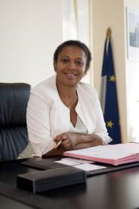21/09/2014 - Vaulx en Velin - Rhone - France - Helene Geoffroy deputee maire de Vaulx en Velin - Photo Thierry Chassepoux