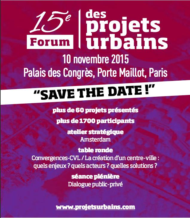 Programme 15e forum projets urbains