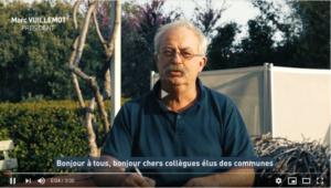 Miniature de la vidéo présentée montrant le Président de l'association