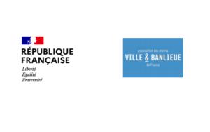Logo de V&B à côté de celui de la République Française