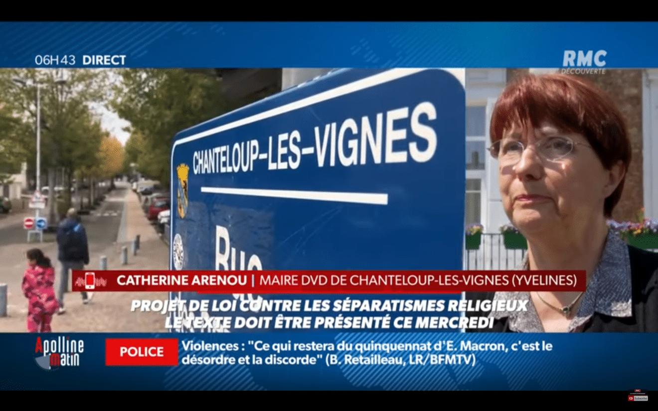 """Séparatismes religieux : """"Si la République n'est pas là, le vide existe et tous les risques aussi"""", Catherine Arenou sur RMC"""